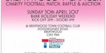 Camlar Sponsor Brentwood V Cancer Charity Football for Teenage Cancer Trust